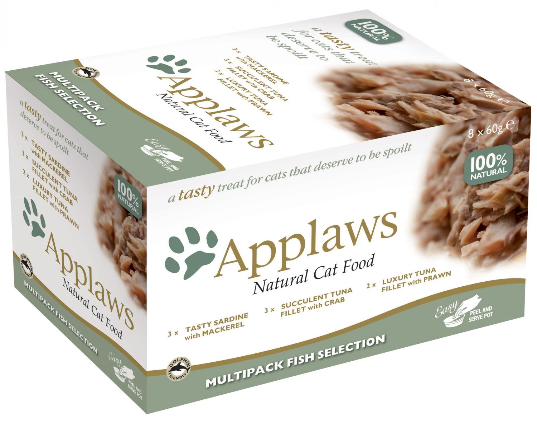 Applaws katt Pod Mix Fish Selection 8x60g
