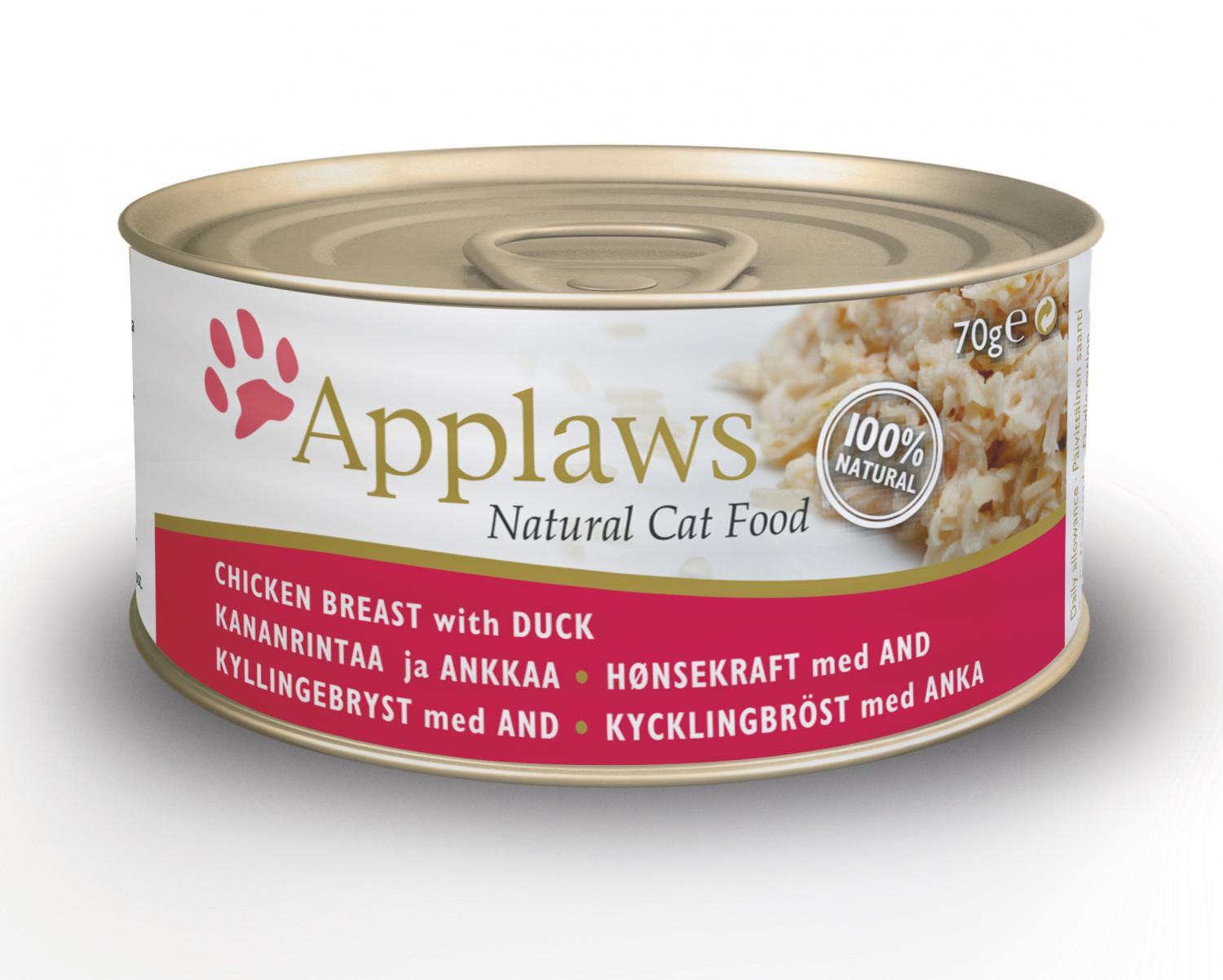 Applaws katt konserv Chicken&Duck 70g