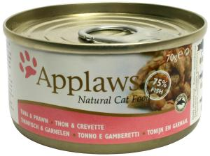 Applaws katt konserv Tuna Fillet&Prawn 70g