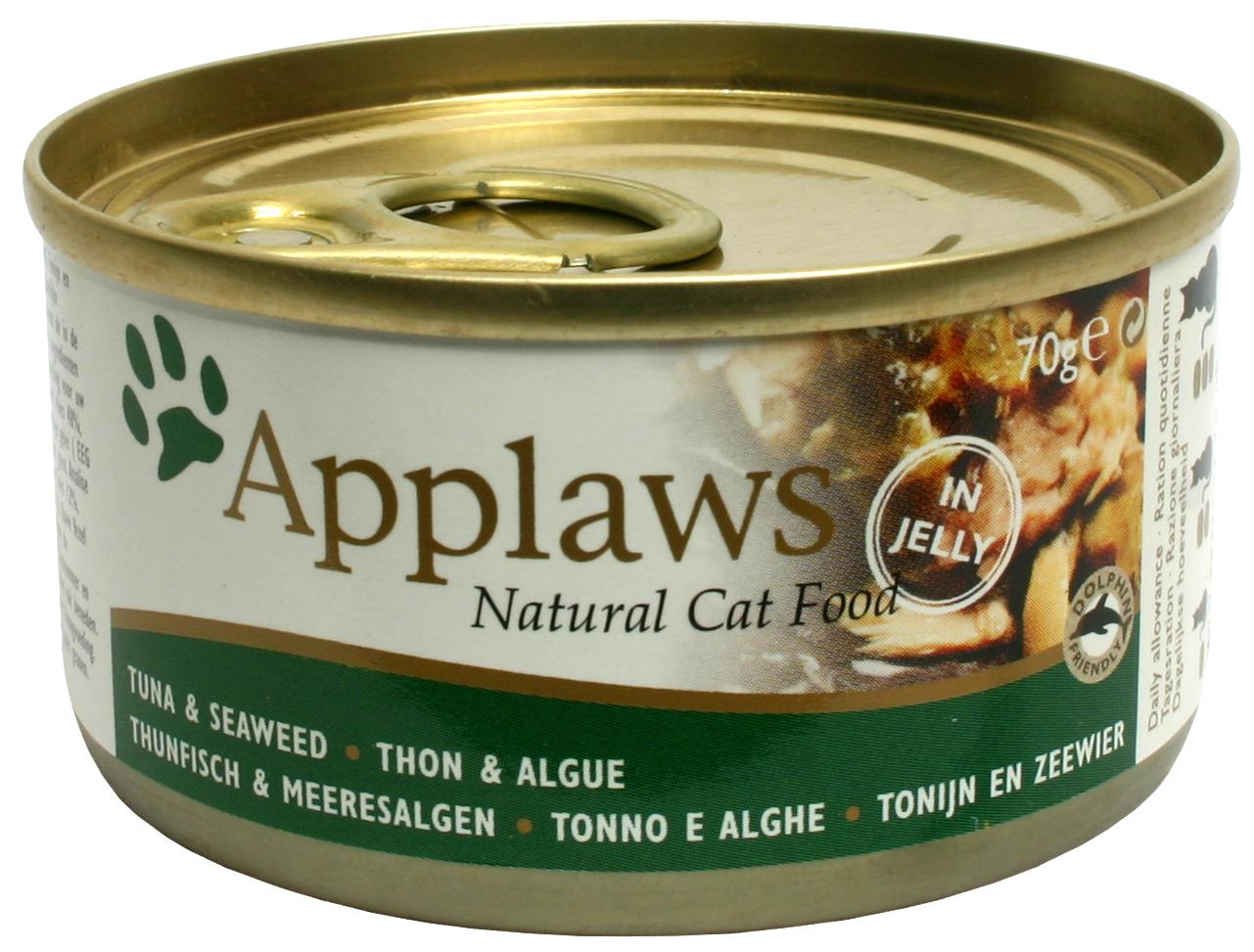 Applaws katt konserv Tuna Fillet&Seaweed 70g