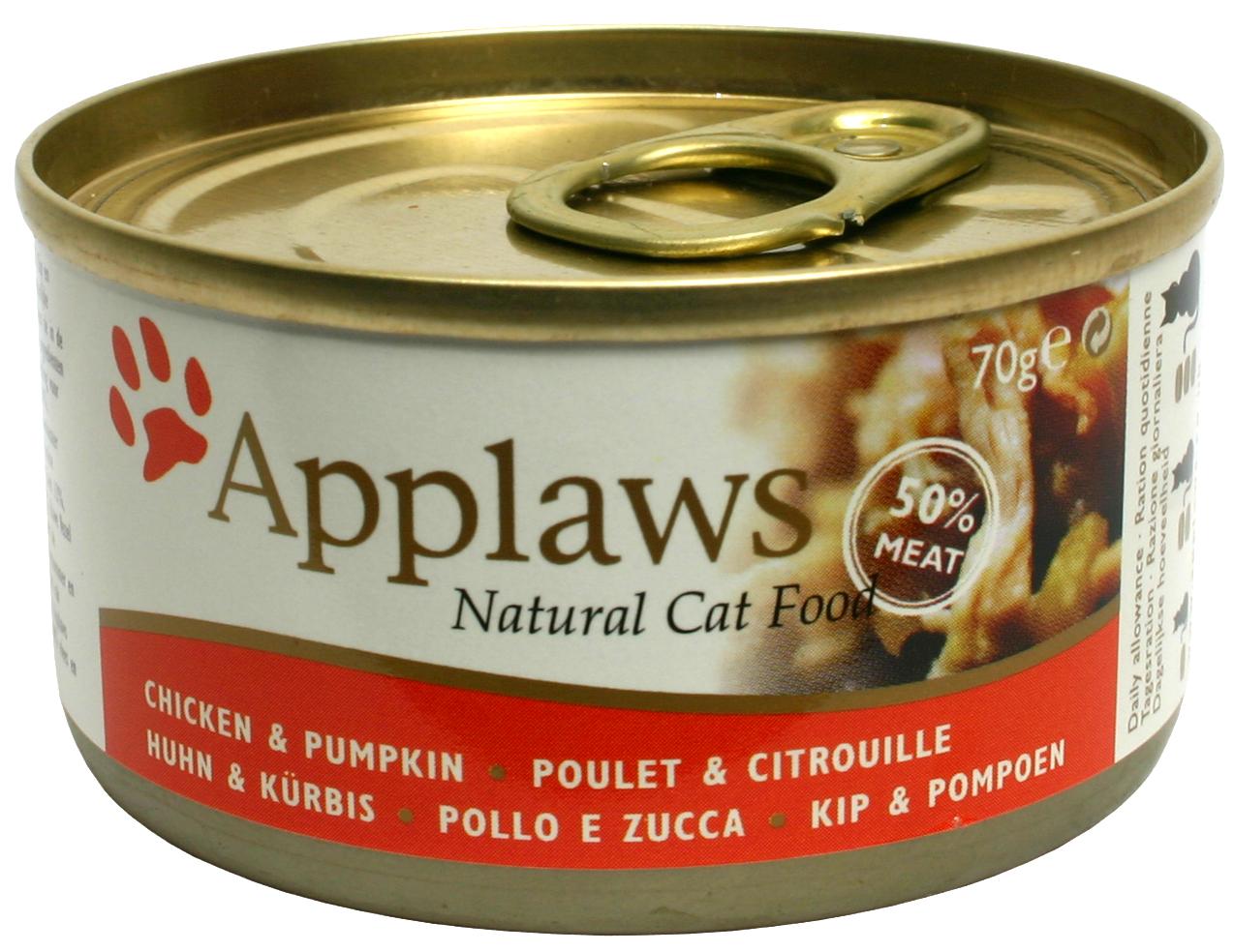 Applaws katt konserv Chicken Breast&Pumpkin 70g