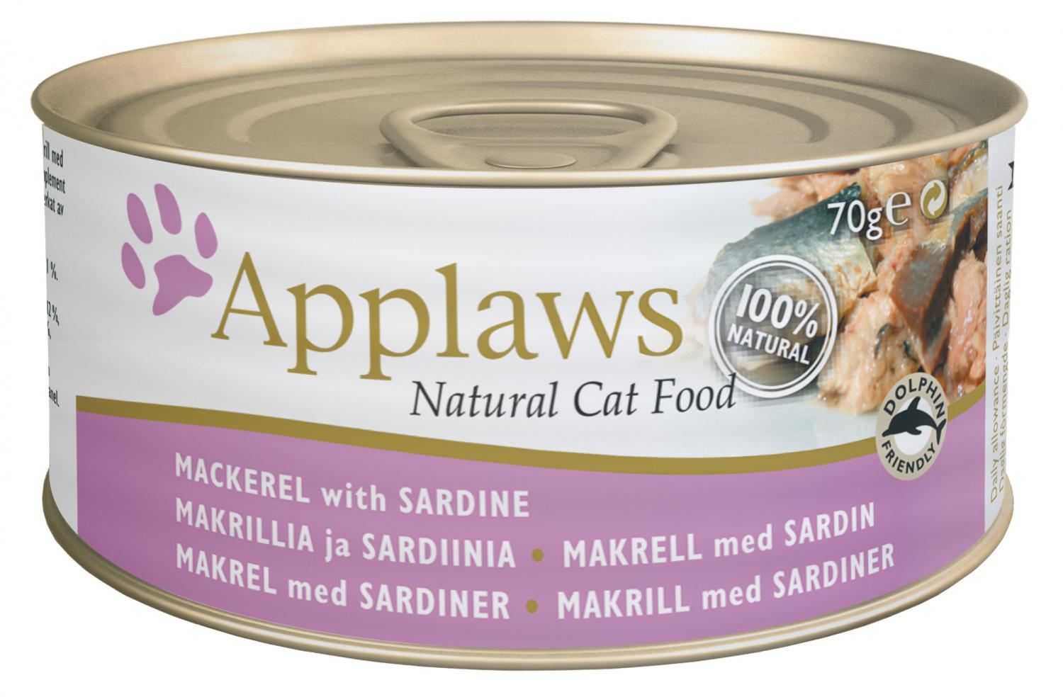 Applaws katt konserv Mackerel + Sardine 70g