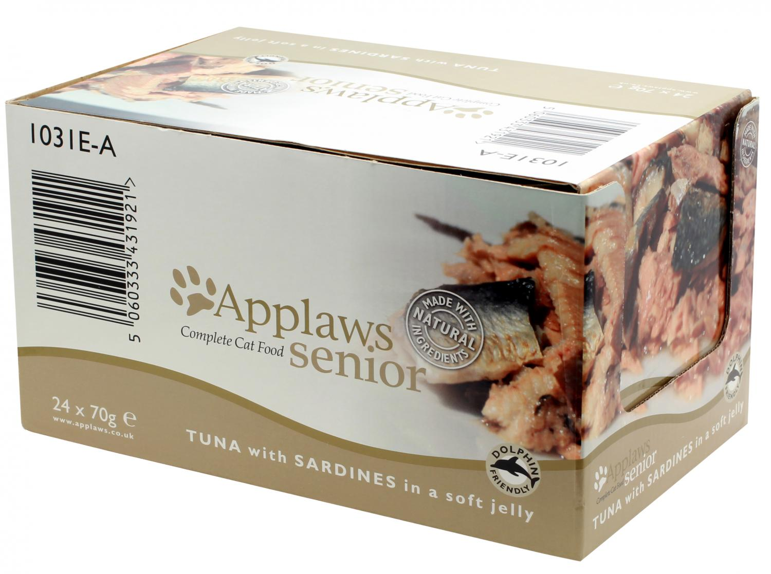 Applaws katt konserv Tuna+Sardine Senior 70g