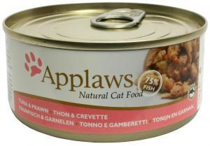 Applaws katt konserv Tuna Fillet&Prawn 156g