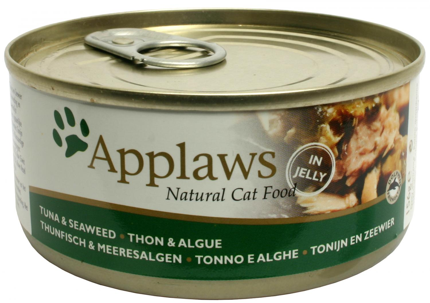 Applaws katt konserv Tuna Fillet&Seaweed 156g