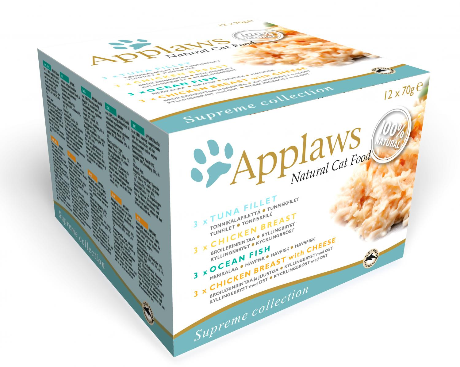 Applaws katt konserv Supreme Collection pack 12x70g