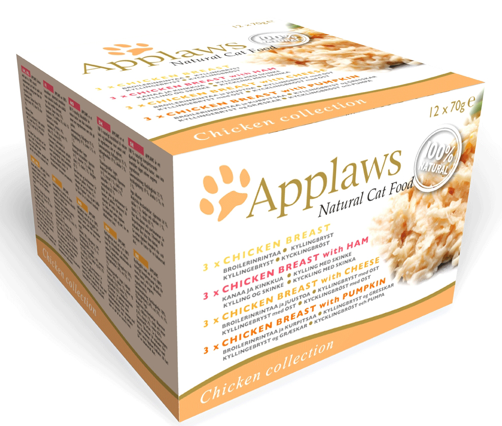 Applaws katt konserv Chicken DeLuxe pack 12x70g