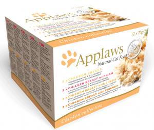 Applaws katt konserv Chicken DeLuxe pack 12x70g