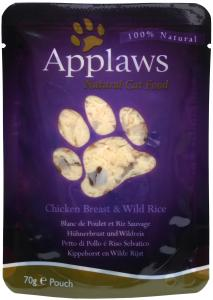 Applaws katt Påse Chicken&Wildrice 70g