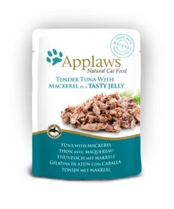 Applaws katt Påse Tuna+Mackerel Gelé 70g