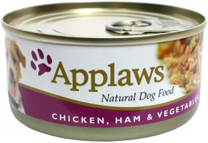 Applaws hund konserv Chicken, Ham&Veg 156g
